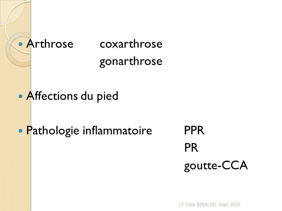 Pathologie inflammatoire PPR PR goutte-CCA