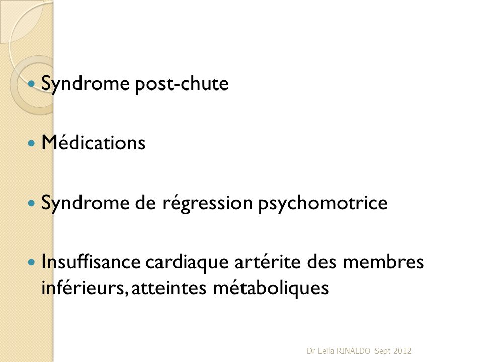 Syndrome de régression psychomotrice