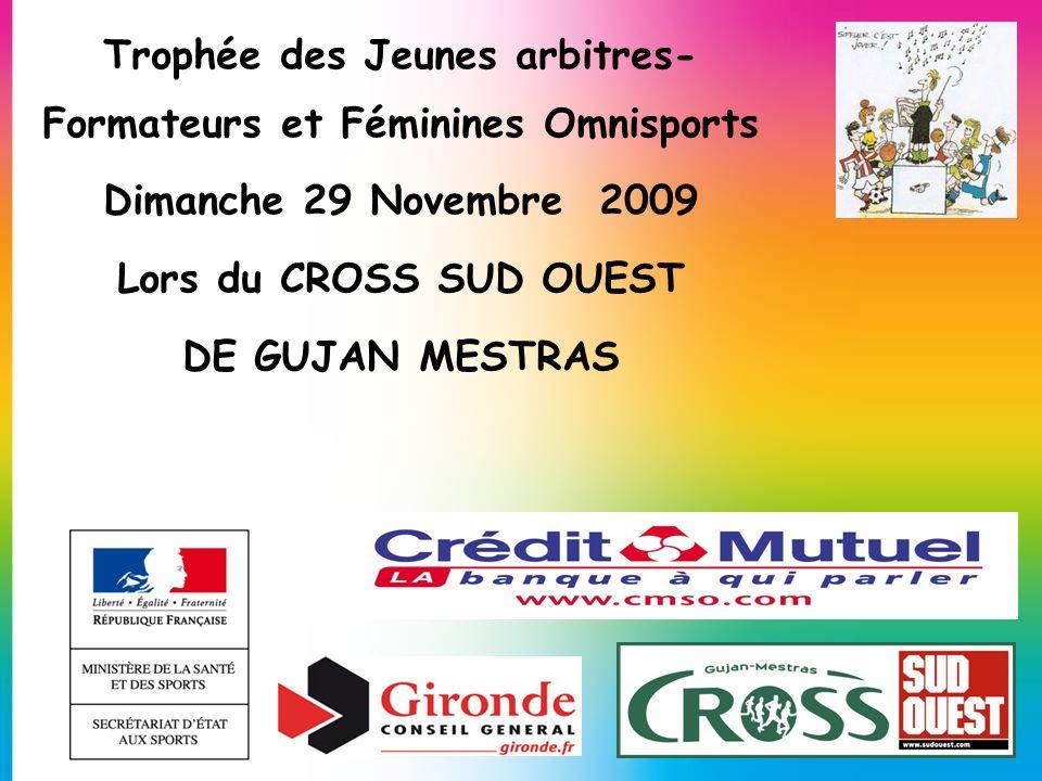 Trophée des Jeunes arbitres-Formateurs et Féminines Omnisports