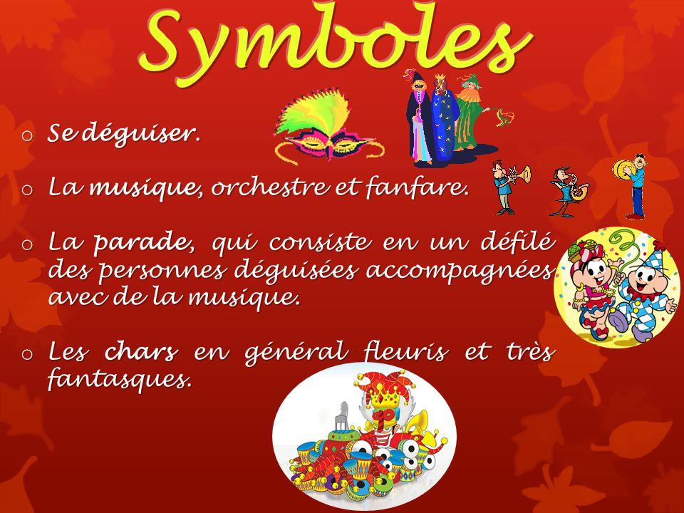 Symboles Se déguiser. La musique, orchestre et fanfare.