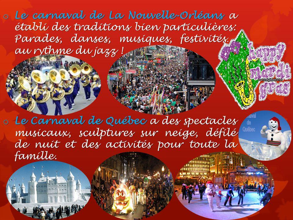Le carnaval de La Nouvelle-Orléans a établi des traditions bien particulières: Parades, danses, musiques, festivités… au rythme du jazz !