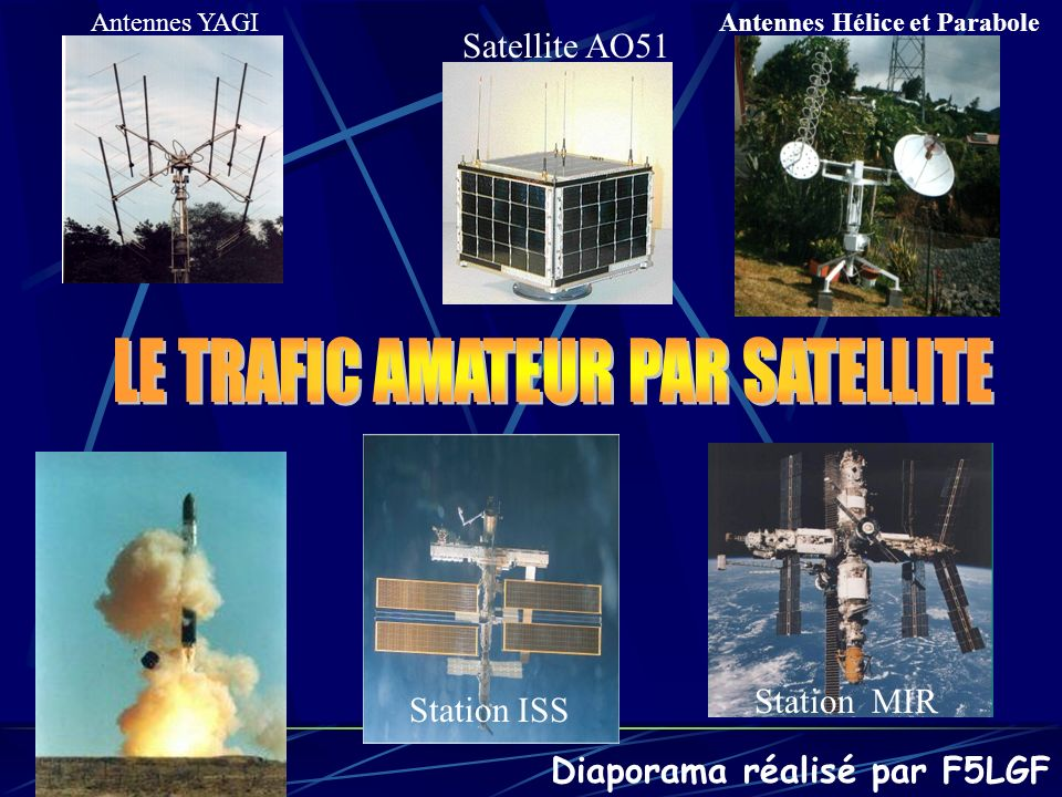 LE TRAFIC AMATEUR PAR SATELLITE