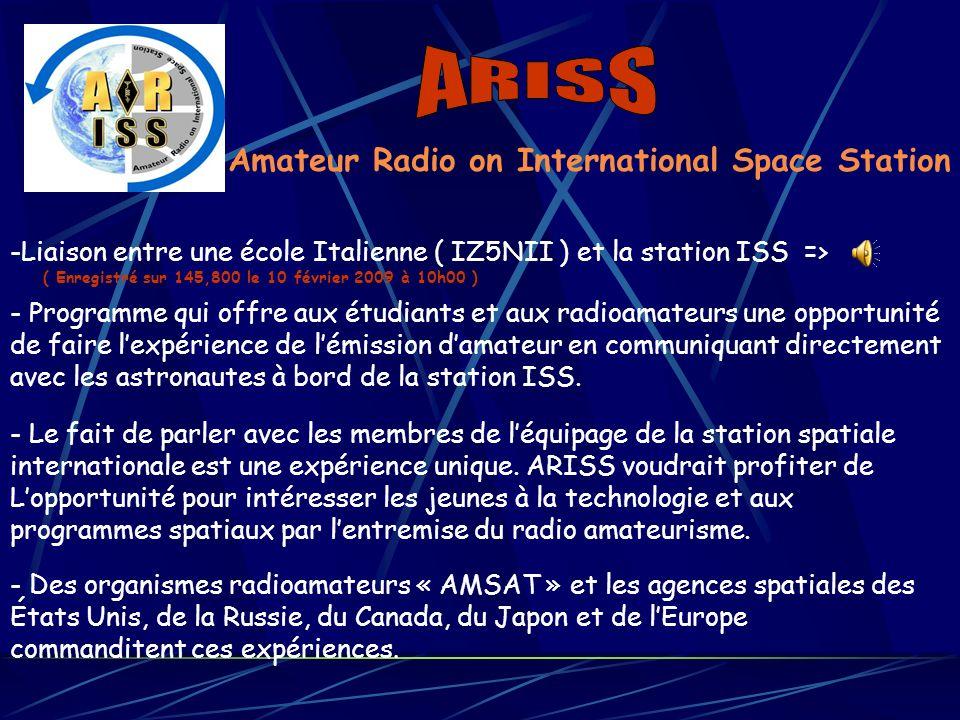 ARISS Amateur Radio on International Space Station