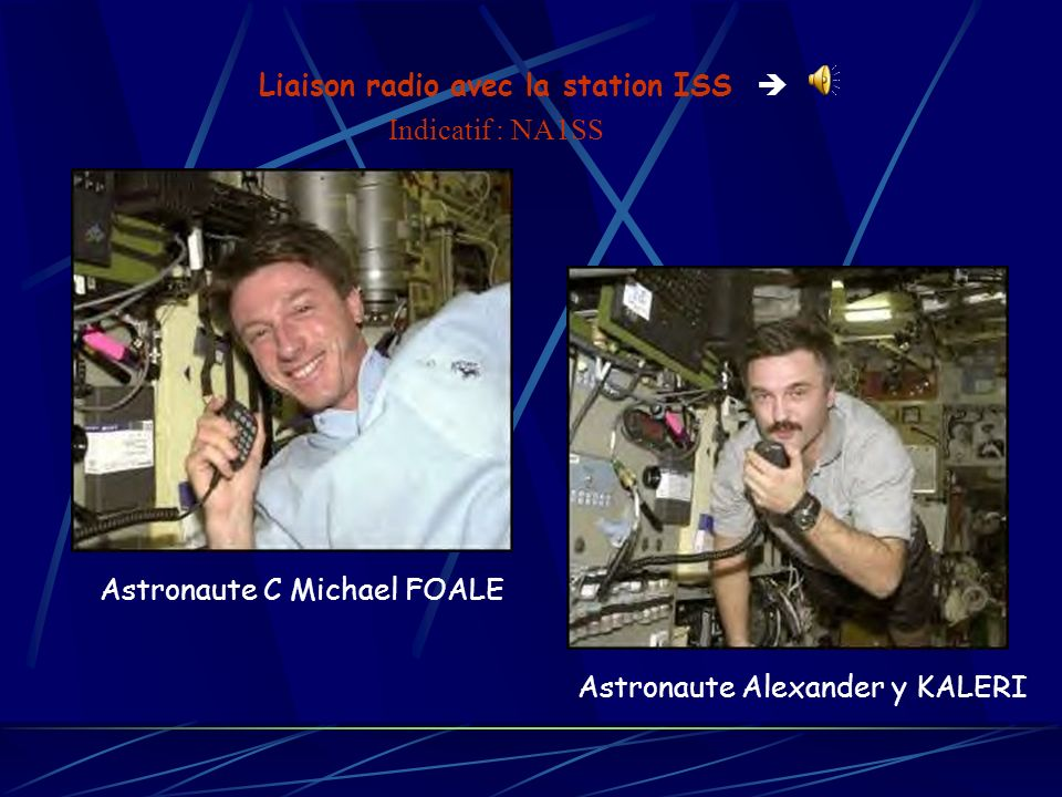 Liaison radio avec la station ISS 