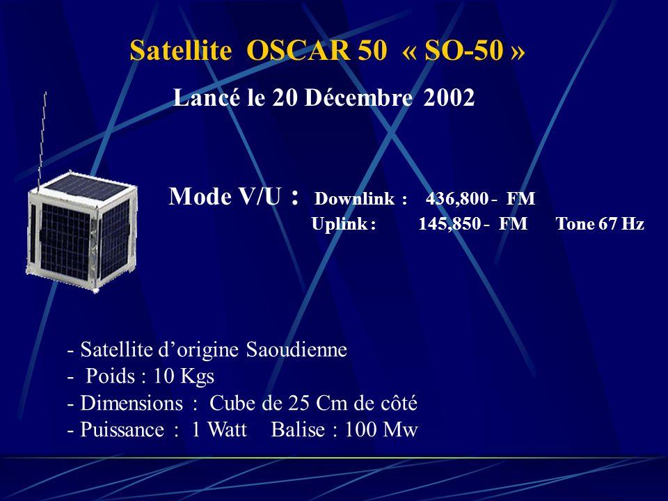 Satellite OSCAR 50 « SO-50 » Lancé le 20 Décembre 2002