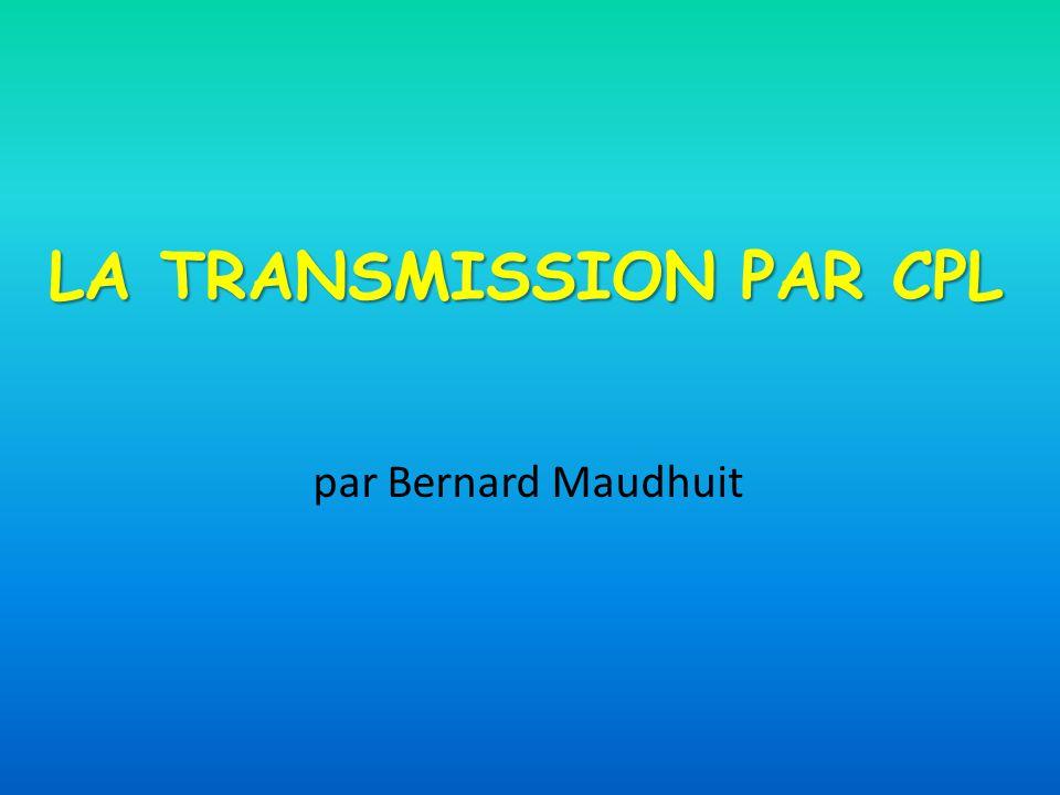 LA TRANSMISSION PAR CPL