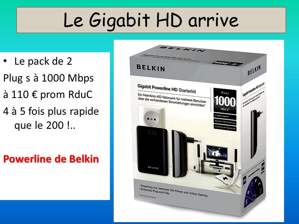 Le Gigabit HD arrive Le pack de 2 Plug s à 1000 Mbps à 110 € prom RduC