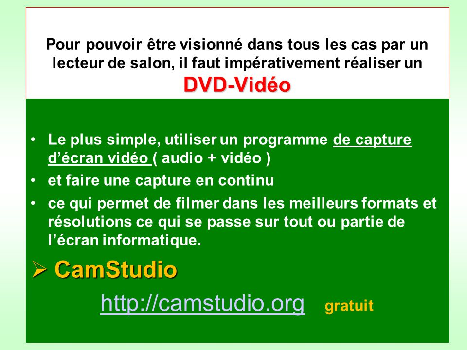 http://camstudio.org gratuit