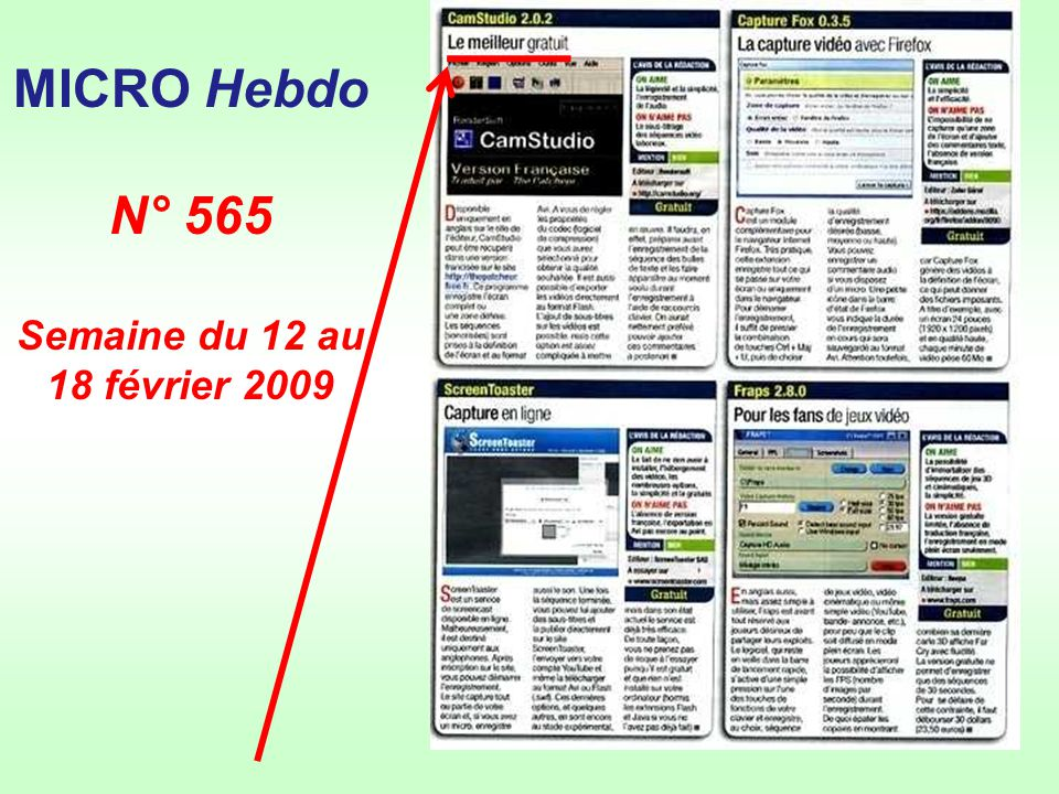 MICRO Hebdo N° 565 Semaine du 12 au 18 février 2009