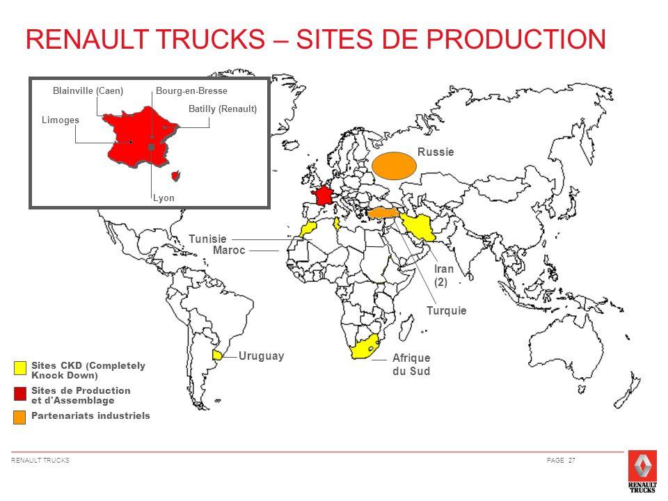 RENAULT TRUCKS – SITES DE PRODUCTION