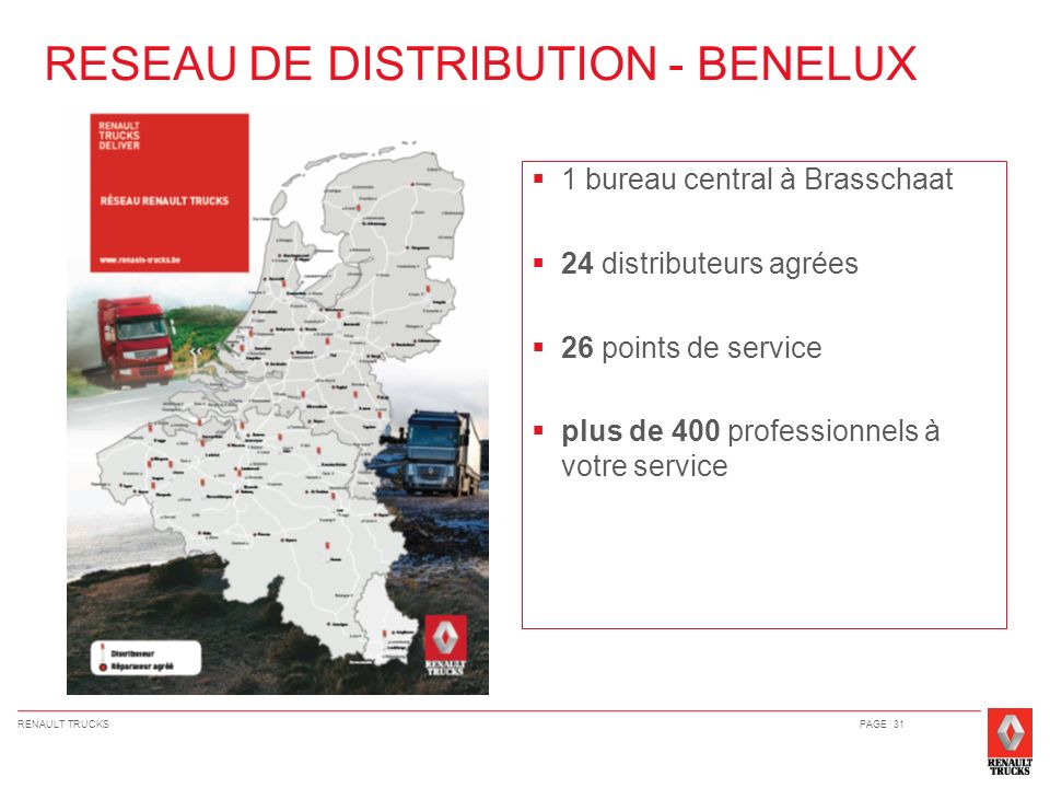 RESEAU DE DISTRIBUTION - BENELUX