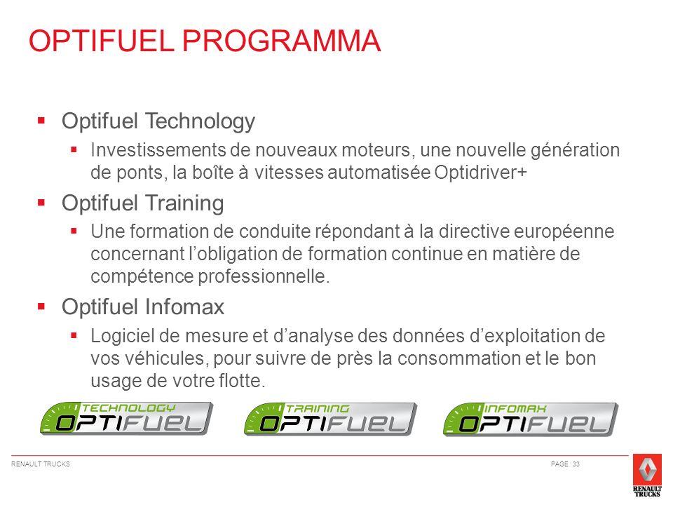 OPTIFUEL PROGRAMMA Optifuel Technology Optifuel Training