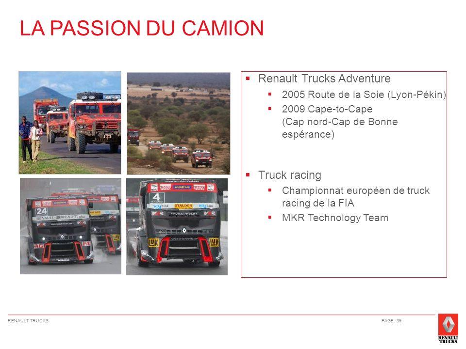 LA PASSION DU CAMION Renault Trucks Adventure Truck racing