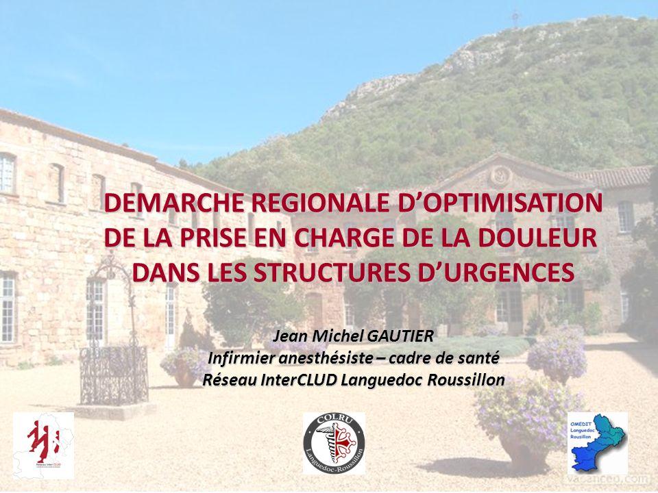 DEMARCHE REGIONALE D'OPTIMISATION DE LA PRISE EN CHARGE DE LA DOULEUR