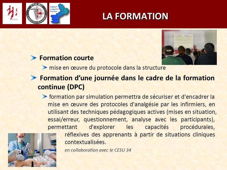 LA FORMATION Formation courte