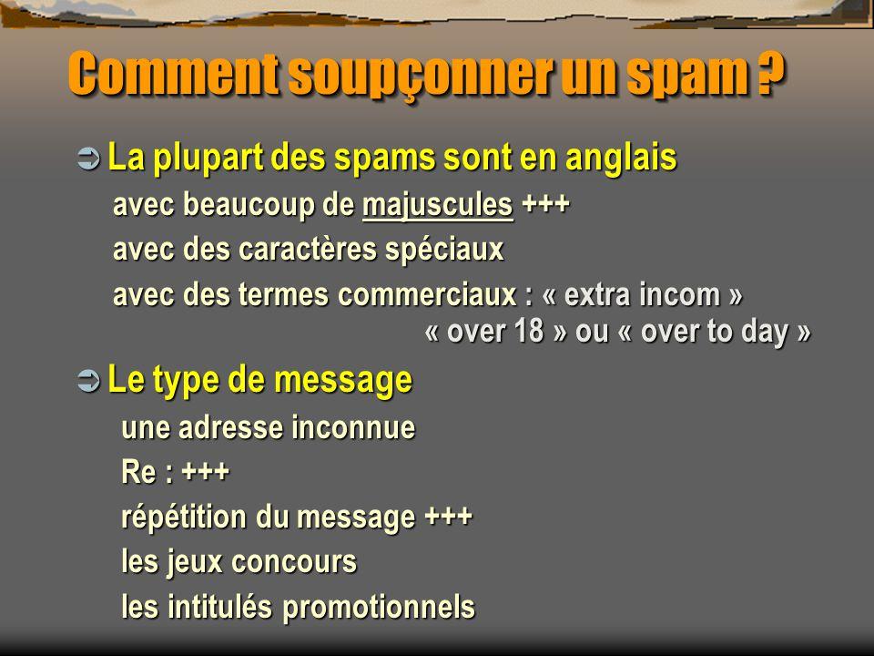 Comment soupçonner un spam