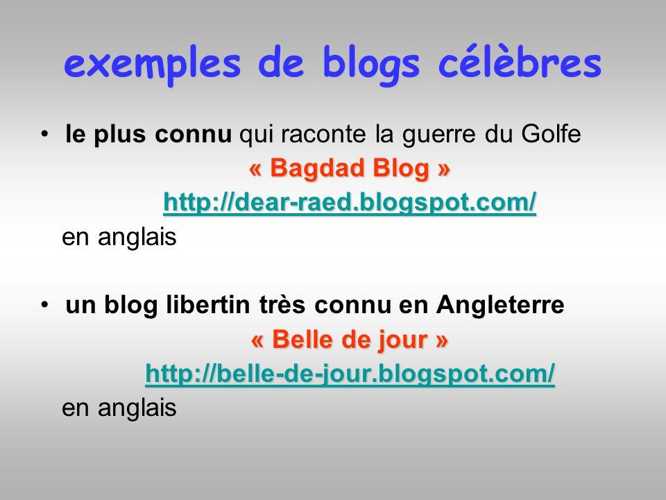 exemples de blogs célèbres