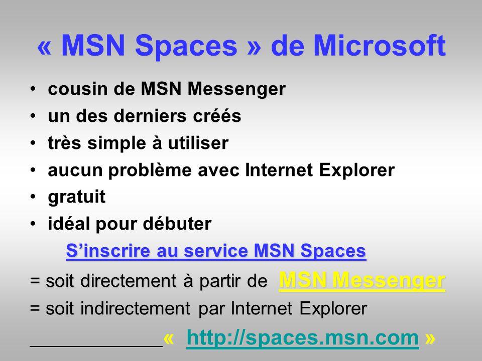 « MSN Spaces » de Microsoft