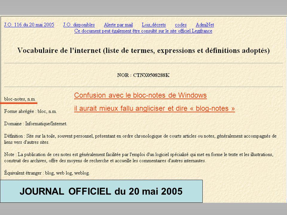 JOURNAL OFFICIEL du 20 mai 2005