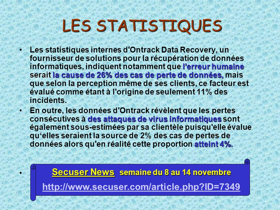 Secuser News semaine du 8 au 14 novembre