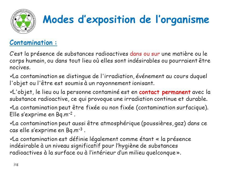 Modes d'exposition de l'organisme