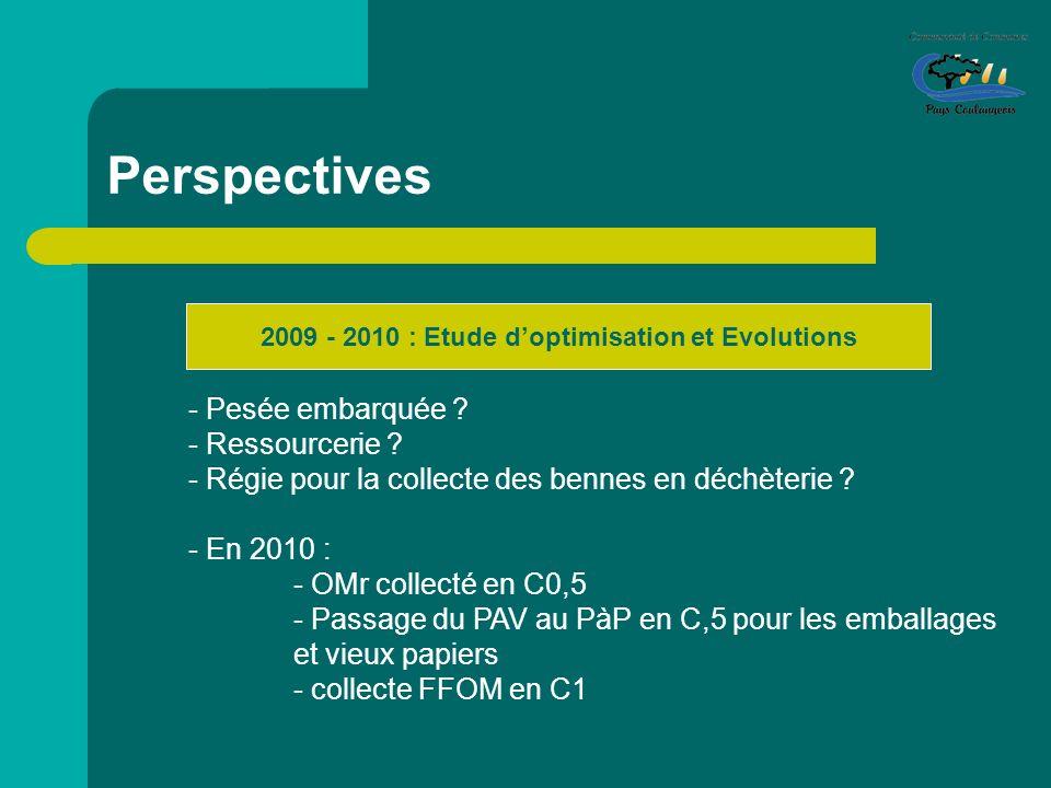 2009 - 2010 : Etude d'optimisation et Evolutions