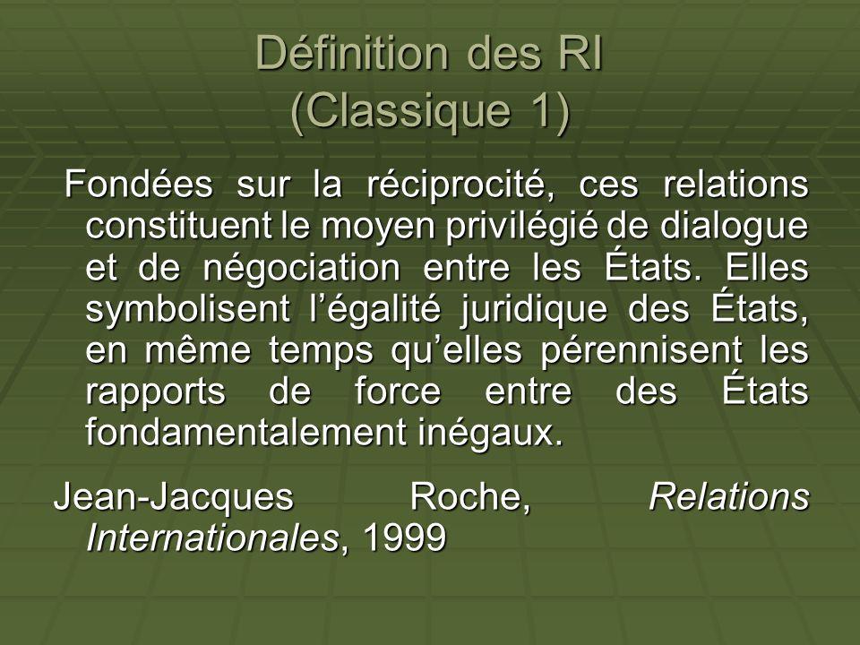 Définition des RI (Classique 1)