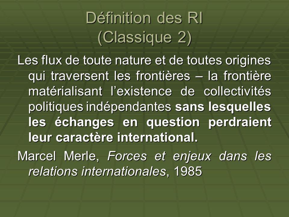 Définition des RI (Classique 2)