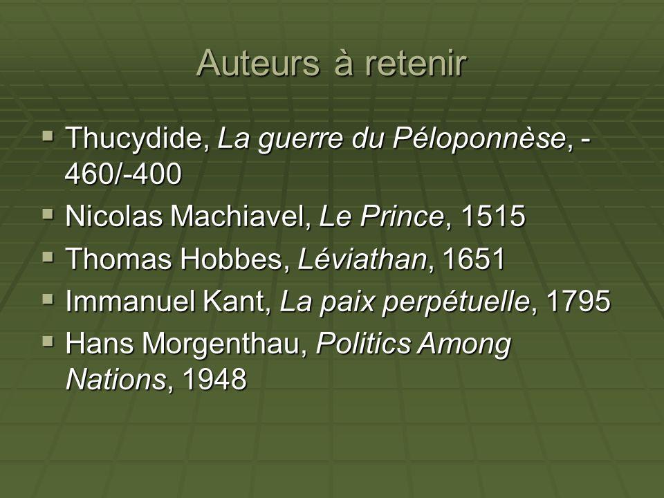 Auteurs à retenir Thucydide, La guerre du Péloponnèse, -460/-400