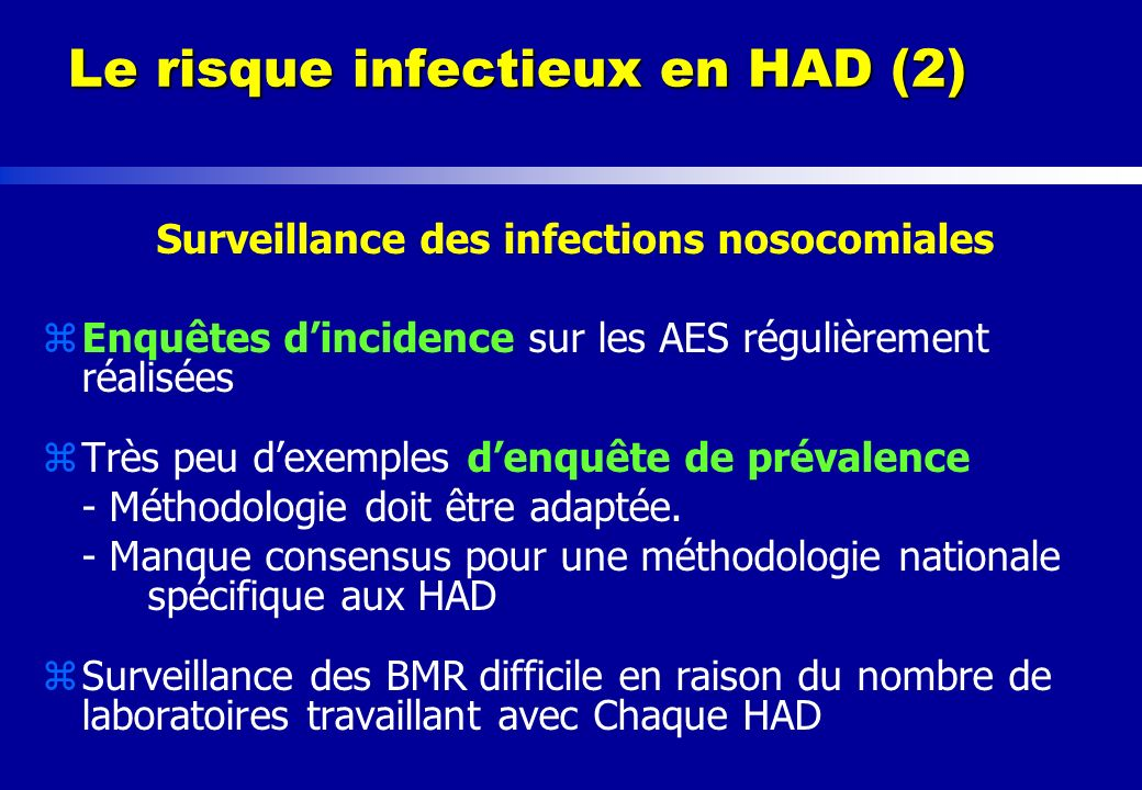 Le risque infectieux en HAD (2)