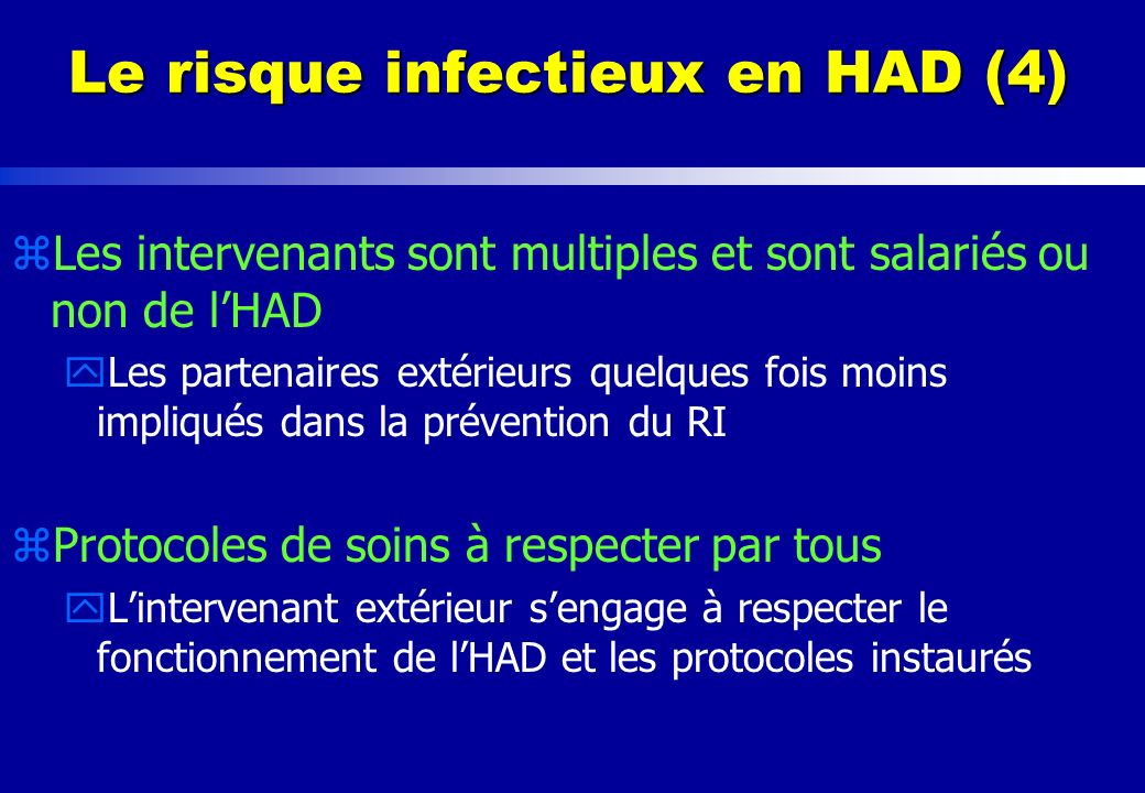 Le risque infectieux en HAD (4)