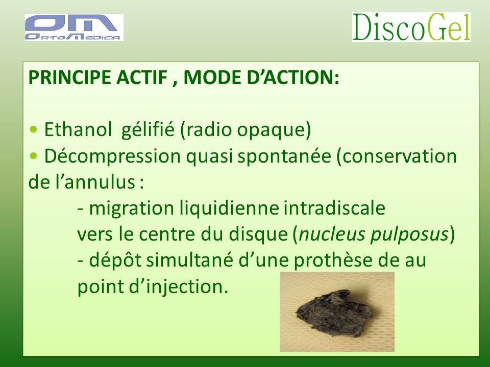 PRINCIPE ACTIF , MODE D'ACTION:
