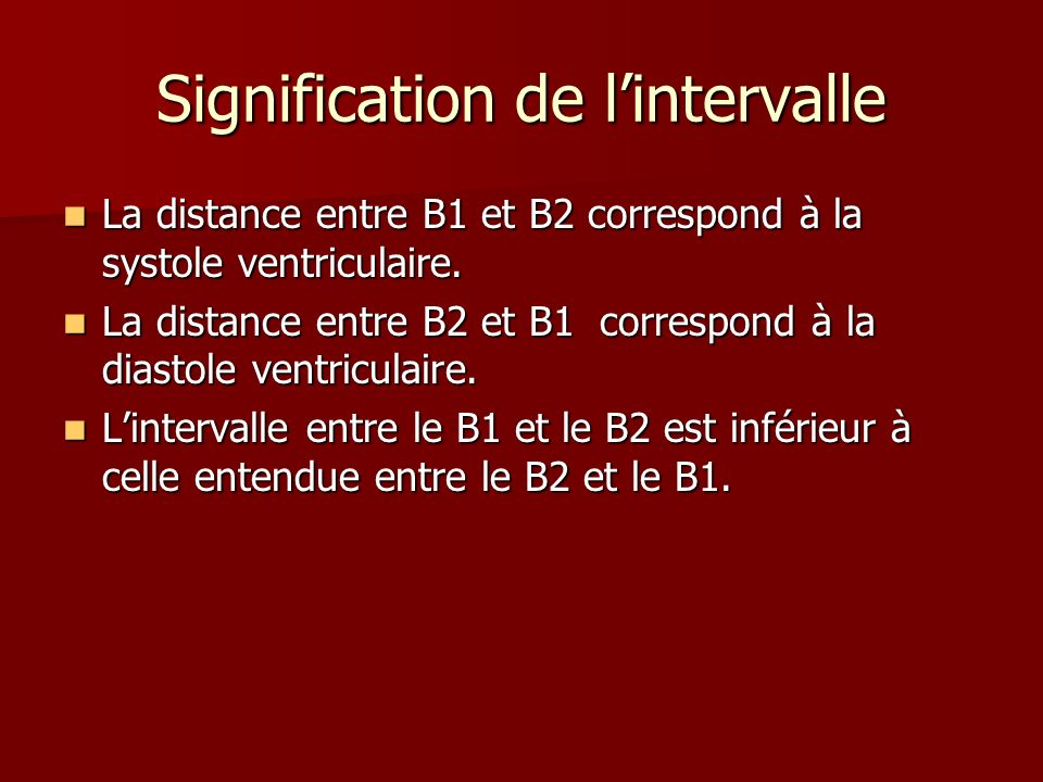 Signification de l'intervalle