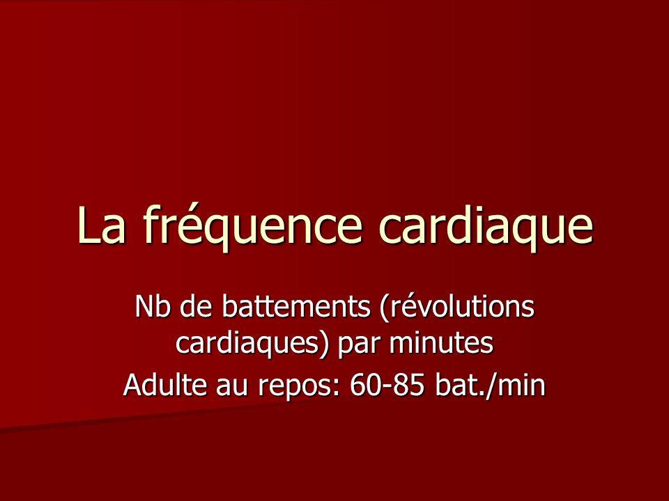 La fréquence cardiaque