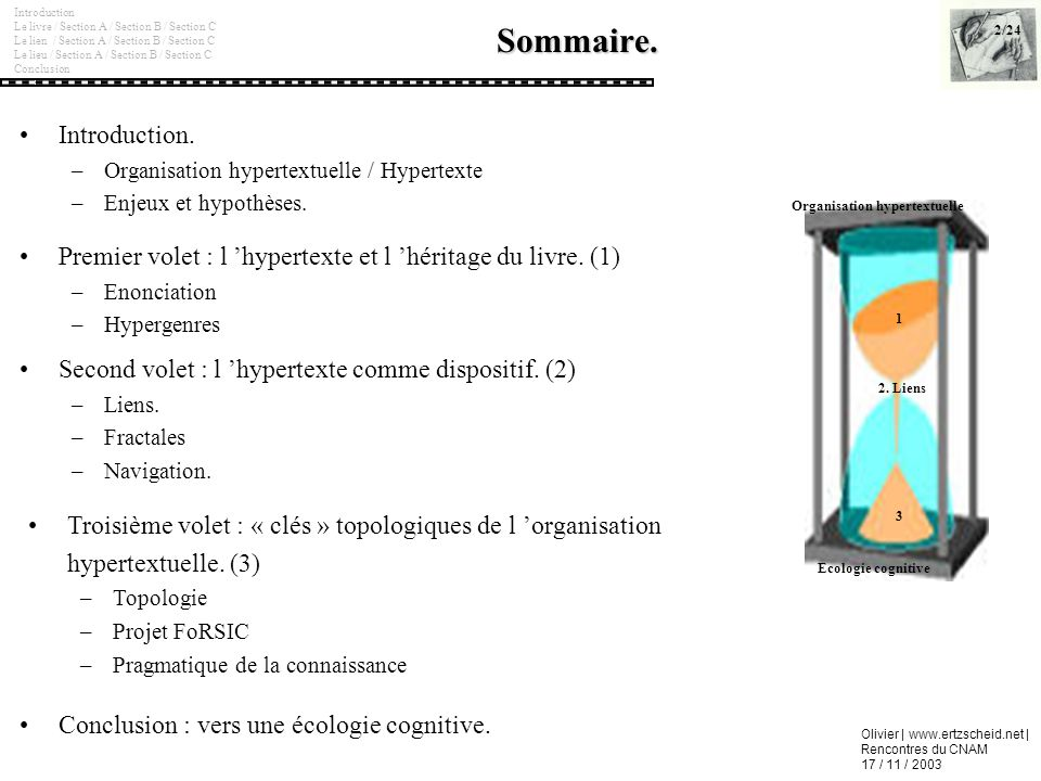 Sommaire. Introduction.