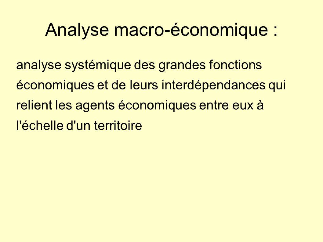 Analyse macro-économique :