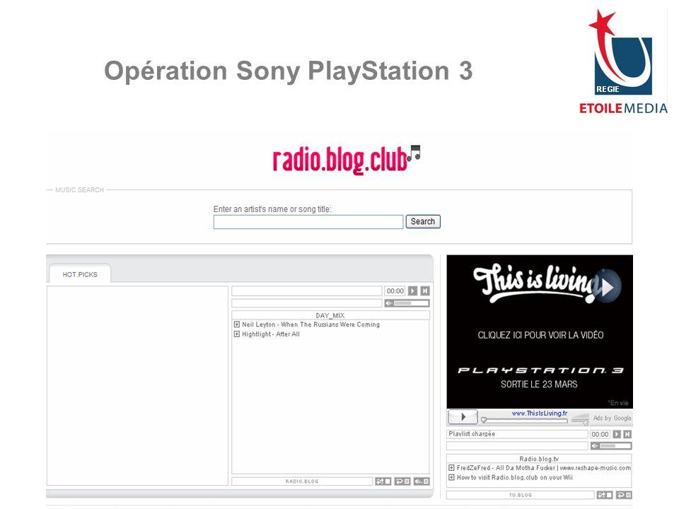 Opération Sony PlayStation 3