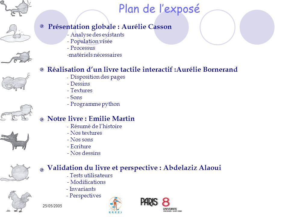 Plan de l'exposé Présentation globale : Aurélie Casson