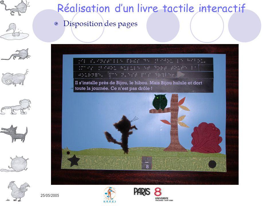 Réalisation d'un livre tactile interactif