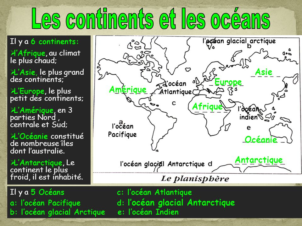 l'océan glacial arctique l'océan glacial Antarctique