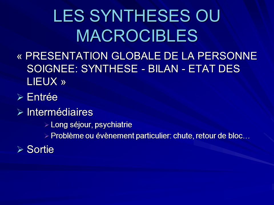 LES SYNTHESES OU MACROCIBLES