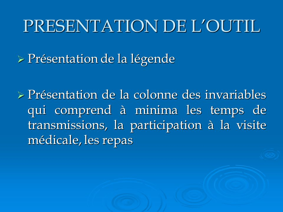 PRESENTATION DE L'OUTIL