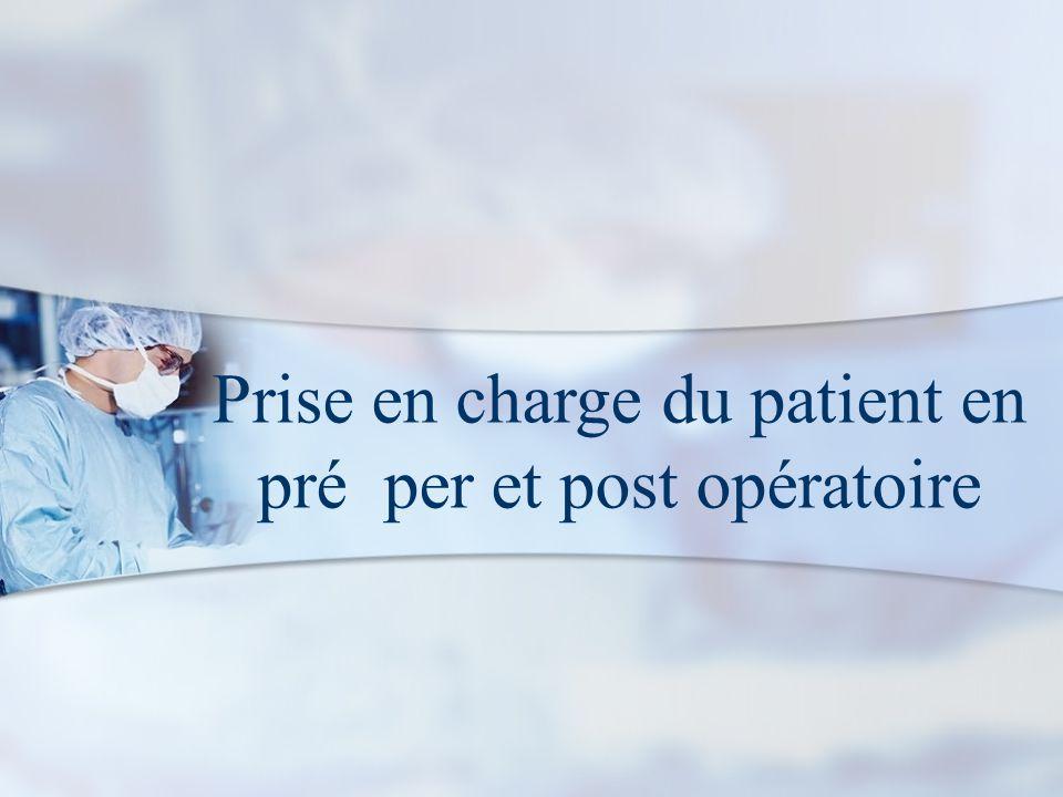 Prise en charge du patient en pré per et post opératoire