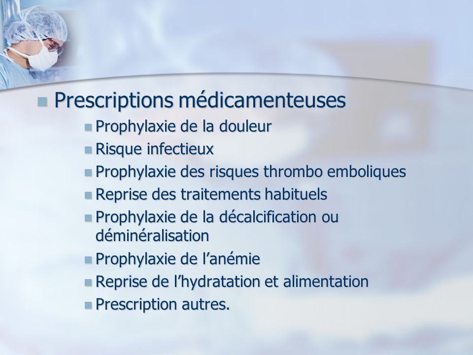 Prescriptions médicamenteuses