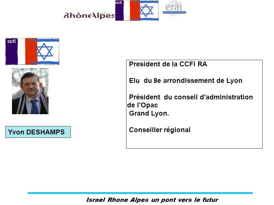 President de la CCFI RA Elu du 8e arrondissement de Lyon. Président du conseil d administration de l Opac.
