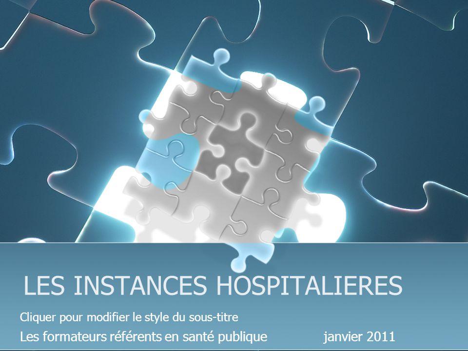 LES INSTANCES HOSPITALIERES