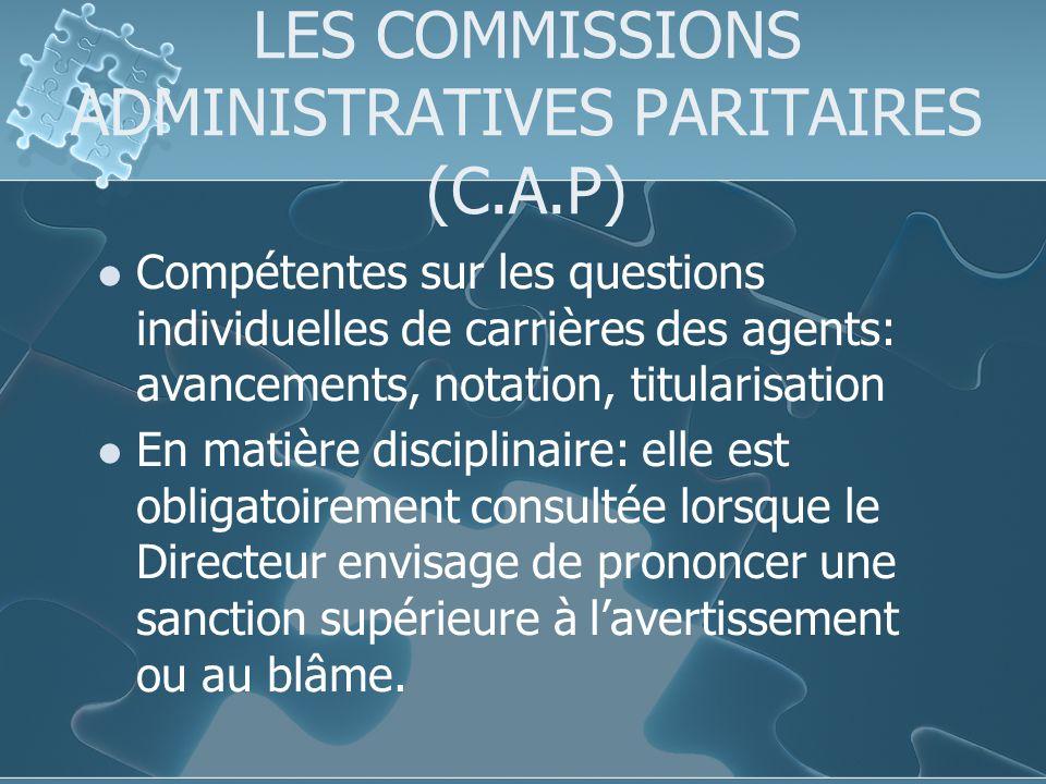 LES COMMISSIONS ADMINISTRATIVES PARITAIRES (C.A.P)