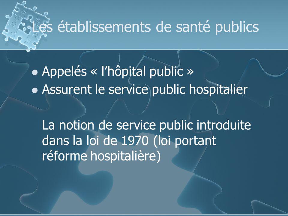 Les établissements de santé publics