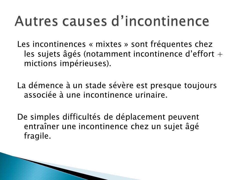Autres causes d'incontinence