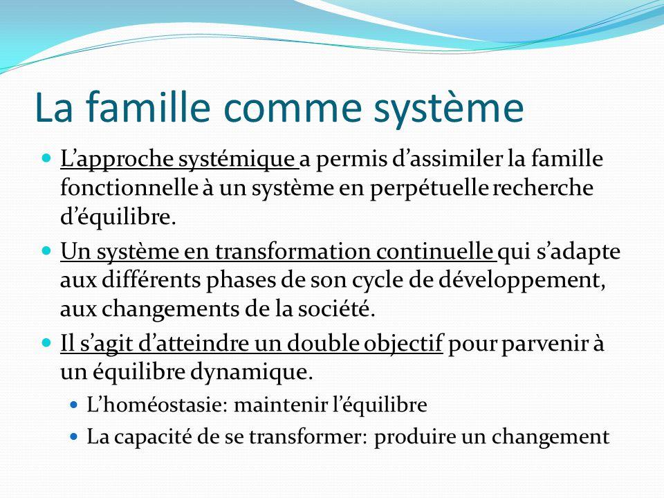 La famille comme système